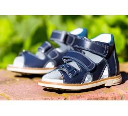 Босоніжки «Алекс» дитячі профілактичні для хлопчиків, синього кольору