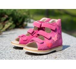 """Босоножки для девочки """"Эмма"""", розовый нубук"""