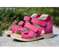 Босоніжки «Аліса - L» профілактичні для дівчаток, рожевий нубук