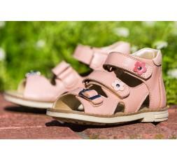 Босоножки «Алиса» детские профилактические для девочек, розовые